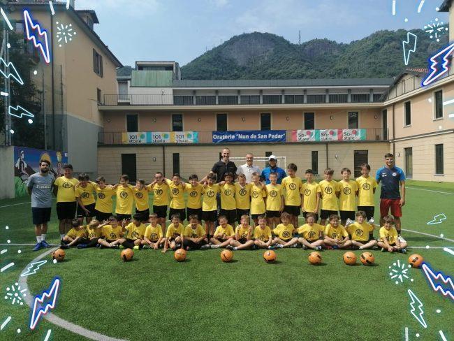 Calcio giovanile HF città di Como camp con Beppe Bergomi