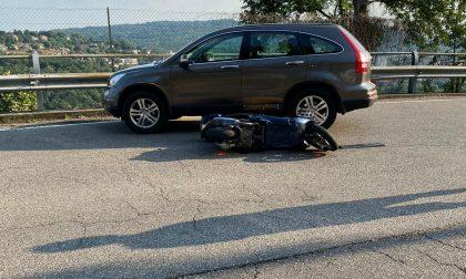 Incidente a Camnago Volta: gravissimo motociclista FOTO