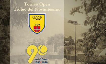 "Tennis Como cin cin speciale con il torneo Open ""Trofeo del Novantesimo"""
