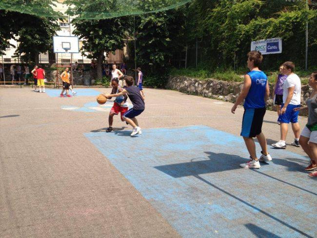 Basket estivo presso The cage di Rebbio
