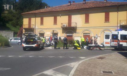 Incidente a Erba scontro tra auto e moto
