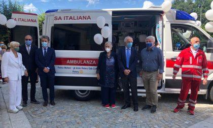 Croce rossa: inaugurata la nuova ambulanza acquistata grazie a una maxidonazione