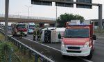 Furgone ribaltato sulla Valassina e il traffico va in tilt