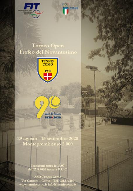Tennis como locandina Torneo 90°