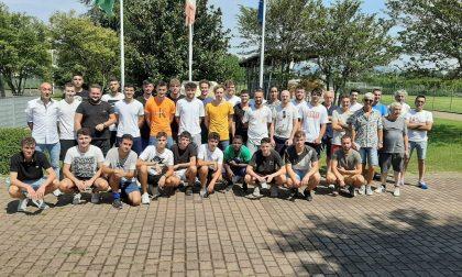 Calcio lariano, la panchina dell'AC Novedrate a Gianluca Santambrogio