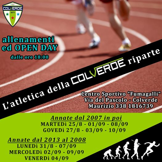 Atletica Open days Colverde