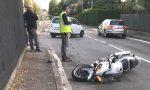 Incidente tra Perticato e Paina: soccorso un motociclista VIDEO