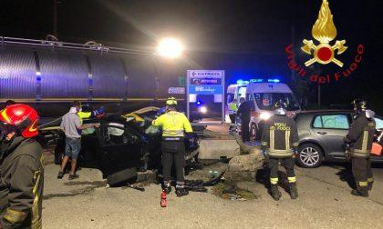 Scontro tra due auto a Lurago d'Erba soccorsi in codice rosso