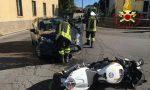 Incidente a Faloppio: scontro tra auto e moto
