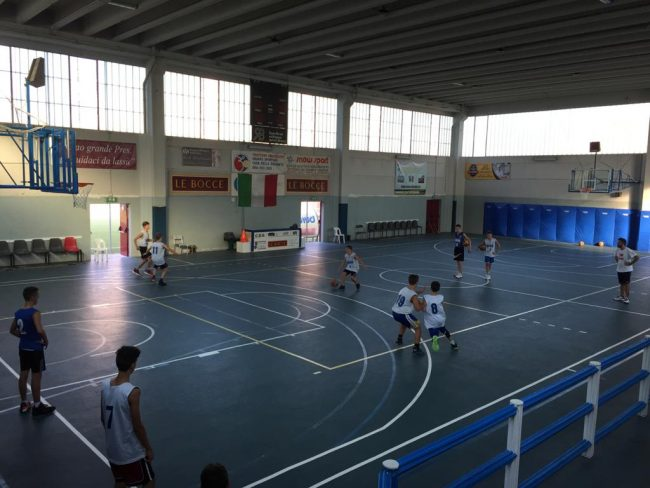 Basket giovanile vivaio le Bocce In campo