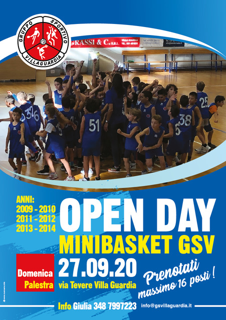 basket giovanile Open day villa Guardia