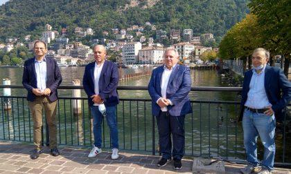 """Paratie, sopralluogo di Sertori dopo i primi lavori: """"Recupereremo 15 centimetri sul l'altezza del lago"""""""