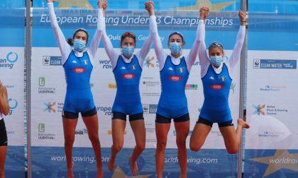 Canottieri Moltrasio Arianna Passini campione continentale con il 4 di coppia femminile