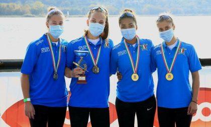 Canottieri Moltrasio ieri terzo titolo tricolore con il 4X Senior femminile