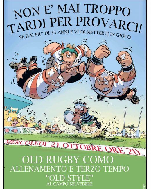 Rugby Como gli Old fanno reclutamento
