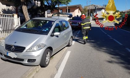 Incidente a Figino Serenza tra due auto