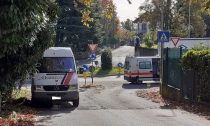 Incidente ad Alzate Brianza soccorso un giovane