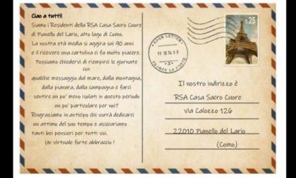 """Cartoline per i nonni ospiti della Rsa di Pianello del Lario: """"Fateci sentire un po' meno isolati"""""""