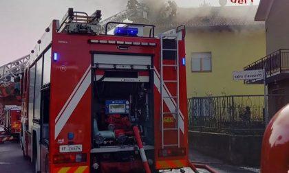 Incendio a Vertemate: brucia un tetto