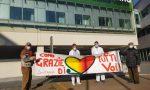 """""""Grazie di cuore"""": lo striscione per i medici del Sant'Anna FOTO"""