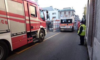 Allarme in un cantierie a Cabiate: arrivano i soccorsi FOTO