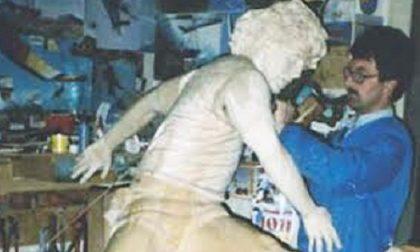 Canturino realizzò una scultura in legno dedicata a Maradona