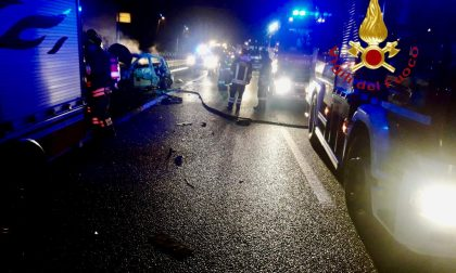 Incidente sulla A9 tra due auto e un tir FOTO