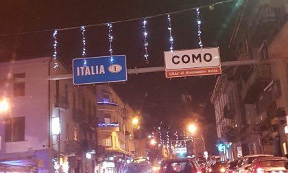 Luminarie di Natale, Ponte Chiasso e Monte Olimpino si accendono grazie ai commercianti
