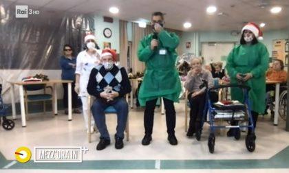 """Casa Anziani di Olgiate in diretta con Lucia Annunziata. Luigi, 81 anni: """"Io qui mi sento amatissimo"""""""