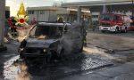 Veicolo a gas metano prende fuoco dopo il rifornimento