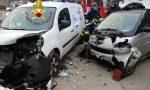 Sormano, frontale tra auto: donna incastrata nella vettura