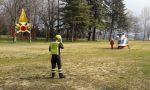 Ciclista soccorso a Cernobbio