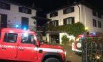 Tetto in fiamme, paura a Olgiate Comasco