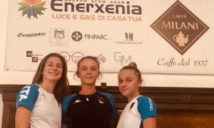 Comense Scherma Irene De Biasio, Carlotta Ferrari, Arianna Proietti in raduno con l'Italia U20