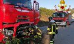 Tir finisce fuori strada a Lipomo: il gasolio finisce nel torrente