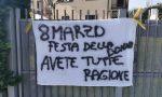 """Festa della donna a Mariano spunta lo striscione: """"Avete tutte ragione"""""""