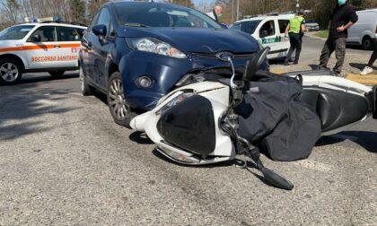 Incidente sulla Lomazzo-Bizzarone soccorso un motociclista