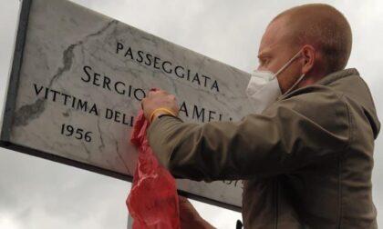 Imbratta la targa a Sergio Ramelli: rintracciato dalla Polizia Locale il vandalo
