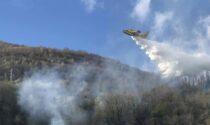 Incendio nel bosco a Sorico