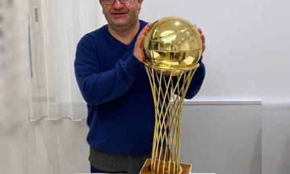 Pallacanestro lariana coach Stefano Pino Sacripanti ha vinto con Napoli la Coppa Italia di A2