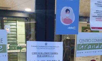 Al Centro Commerciale Grandate disposta la chiusura di un giorno per Ovs e Iper