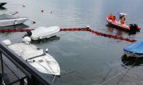 Affonda una barca, sversamento di idrocarburi nel lago