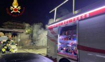 Incendio azienda a Cantù