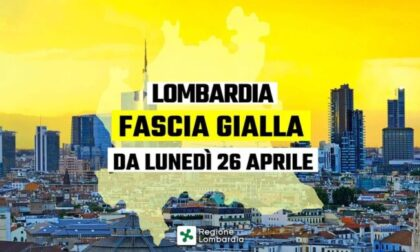 Da lunedì la Lombardia in zona gialla: ecco cosa cambia