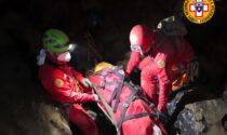 Esercitazione di soccorso speleologico a Zelbio