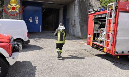 In fiamme un quadro elettrico all'impianto di potabilizzazione comasco di Acsm Agam