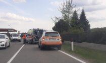 Scontro auto moto ad Alzate Brianza