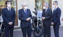 L'Aquila vola sul Quirinale: presentate al Presidente Mattarella le nuove Moto Guzzi V85TT