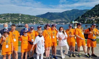 Locatelli a Como: da piazza Cavour è partito il Greeenway di dieci ragazzi con autismo