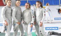 Comense Scherma il quartetto nerostellato di fioretto ai piedi del podio d'Italia